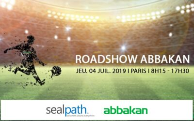 Sealpath presents its solutions at the Abbakan Roadshow Paris held at the Parc des Princes stadium