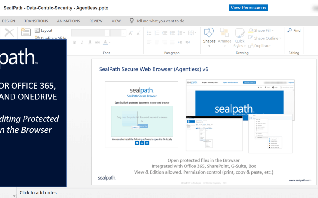 SealPath Agentless for Office 365, SharePoint and OneDrive
