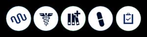 sector farmacia biotecnologia iconos